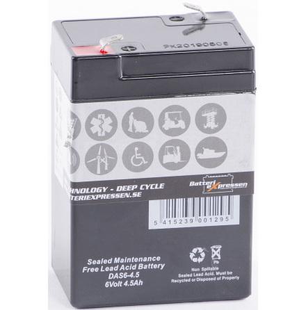AGM batteri 6V 4,5Ah