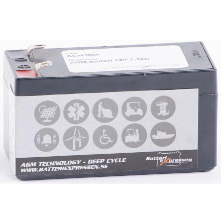 AGM Batteri 12V 1,3Ah