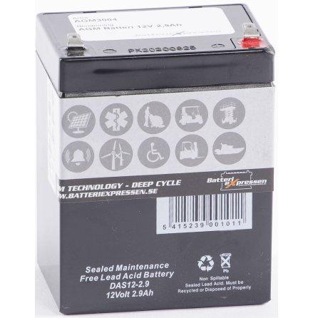 AGM Batteri 12V 2,9Ah