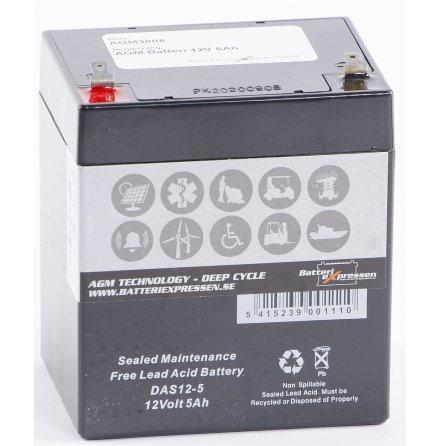 AGM Batteri 12V 5Ah