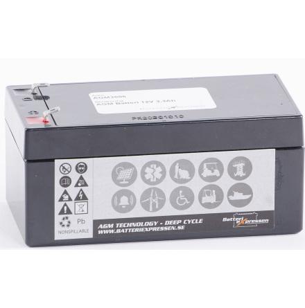 AGM Batteri 12V 3,3Ah