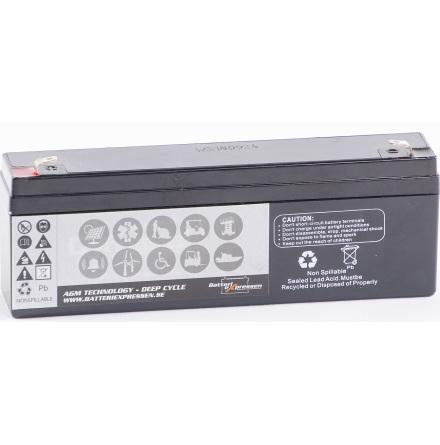 AGM Batteri 12V 2,2Ah