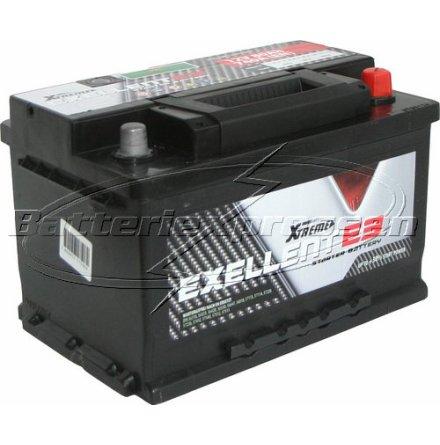 Billigt bilbatteri 12V 80Ah Extreme(USA) LxBxH:278x175x175mm DIN:572409068