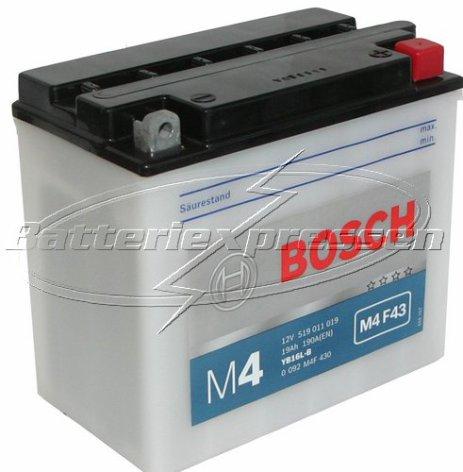 MC-batteri 19Ah YB16L-B Bosch M4043 LxBxH:176x101x156mm