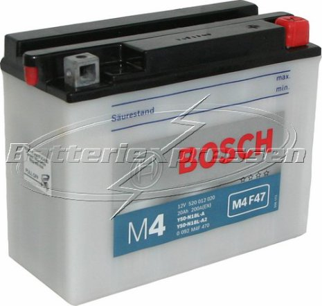 MC-batteri 20Ah Y50N18LA/A2 Bosch M4047 LxBxH:206x92x163mm