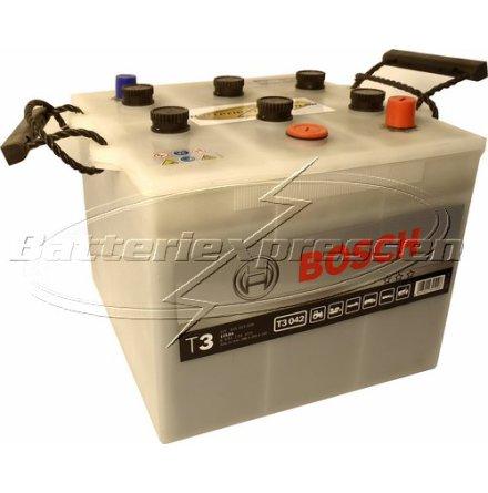 Bilbatteri 12V 125Ah Bosch T3042 DIN: 625023000 LxBxH:286x269x230mm
