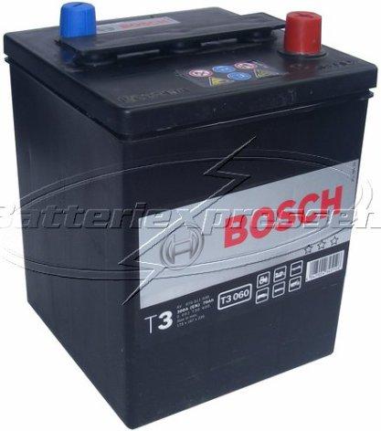 Bilbatteri 6V 70Ah Bosch T3 DIN: 070011030 LxBxH:175x167x220mm