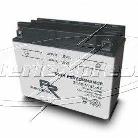 MC-batteri 20 Ah SY50-N18L-AT Poweroad SP3 Vätska lxvxh=205x90x162mm
