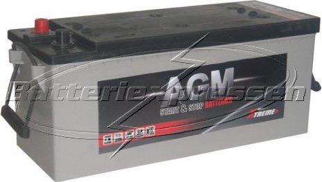 Start/förbrukning 12V140Ah LxBxH:470/513x189x223mm AGM batteri Extreme Excellent