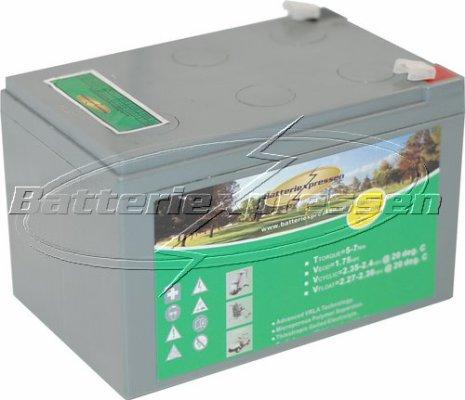 Gelbatteri 12V 12 Ah Batteriexpressen. LxBxH:152x97x96mm