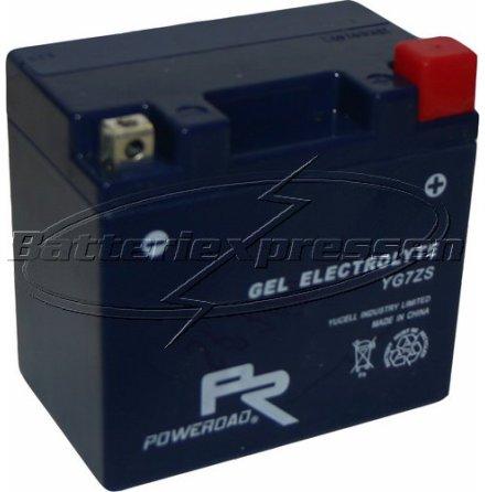 MC-batteri GEL 6 Ah YTZ7S,YG7ZS lxbxh=113x70x105mm Extreme Poweroad