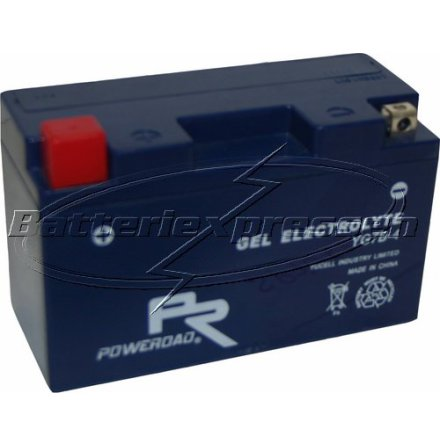 MC-batteri GEL 6 Ah YT7B-4,YG7B-4 Extreme Poweroad lxbxh=150x65x92mm