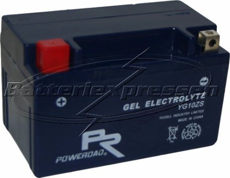MC-batteri GEL 8,5 Ah YTZ10S,YG10ZS lxbxh=150x87x95mm Extreme Poweroad SP4
