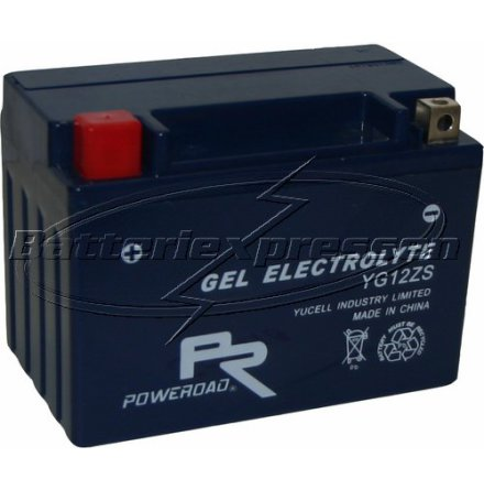 MC-batteri GEL 11 Ah YTZ12S,YG12ZS lxbxh=150x87x110mm Extreme Poweroad