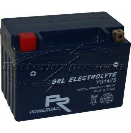MC-batteri GEL 11Ah YTZ12S,YG12ZS lxbxh=150x87x110mm Extreme Poweroad