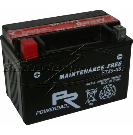 MC-batteri AGM 8Ah YTX9-BS Extreme Poweroad SP6 lxbxh=151x87x106mm