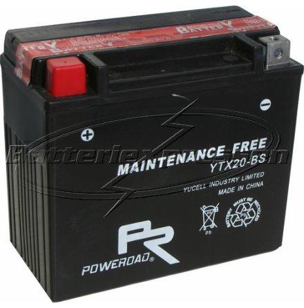 MC-batteri 18 Ah AGM YTX20-BS Poweroad SP6 lxbxh=175x86x154mm
