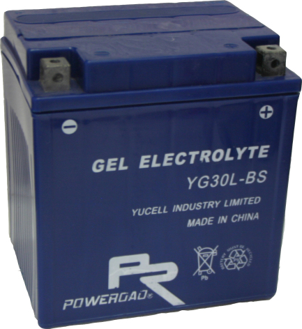 MC-batteri GEL 30Ah YGZ30HL-BS YG30L-BS lxbxh=166x130x175mm Extreme Poweroad SP7 Harley Davidsson 6610-97B