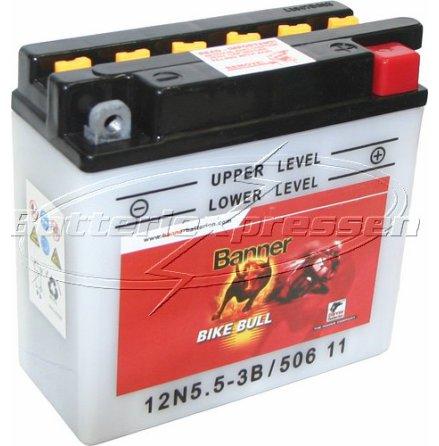 MC-batteri 5,5 Ah 12N5,5-3B LxBxH:136x61x131mm 50611 Banner vätska