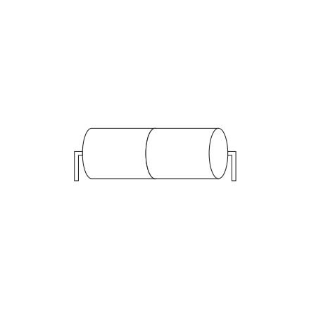 Batteripack 2,4V 4,5 Ah kabel rörända, NiCd, Nödljusbatteri