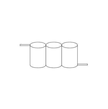 Batteripack 3,6V 1,7 Ah kabel sida, NiCd, Nödljusbatteri