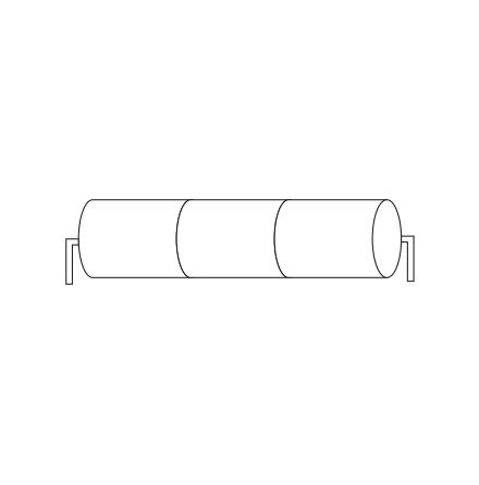 Batteripack 3,6V 4,0 Ah kabel stavända, NiCd, Nödljusbatteri
