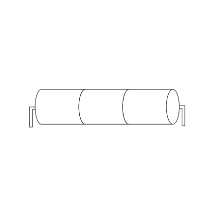 Batteripack 3,6V 4,5 Ah kabel rörända, NiCd, Nödljusbatteri
