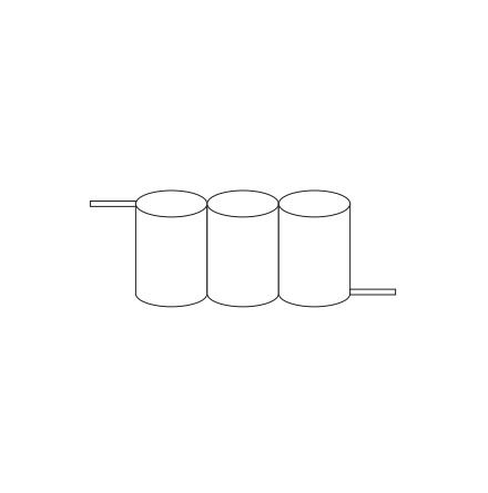 Batteripack 3,6V 4,5 Ah kabel sida, NiCd, Nödljusbatteri