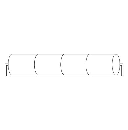 Batteripack 4,8V 2,5 Ah kabel rörända, NiCd, Nödljusbatteri