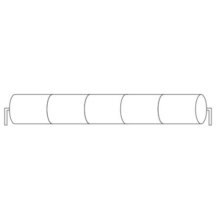 Batteripack 6V 2,5 Ah kabel rörända, NiCd, Nödljusbatteri