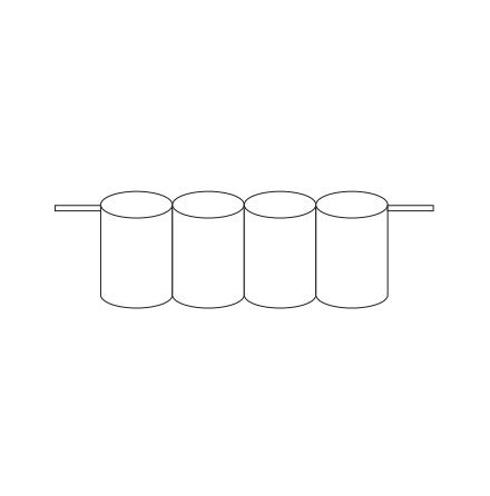 Batteripack 4,8V 2,5 Ah kabel sida, NiCd, Nödljusbatteri