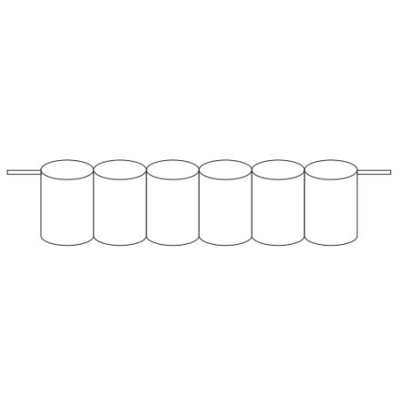 Batteripack 7,2V 1,7 Ah kabel sida, NiCd, Nödljusbatteri