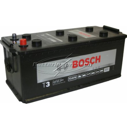 Bilbatteri 12V 180Ah Bosch T3079 DIN: 680033110 LxBxH:513x223x223mm