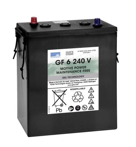 Gelbatteri 6V 270 Ah Sonnenschein GF6240V lxbxh=311x183x358mm