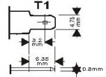 AGM batteri 6V 3.2Ah Batteriexpressen LxBxH:134x34x66mm