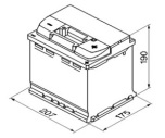 Bilbatteri 12V 52Ah Bosch S4002 DIN: 552400047 LxBxH:207x175x190mm