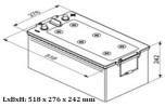 Startbatteri 12V 225Ah Bosch T5080 LxBxH:Längd 473/518x276x242mm DIN: 725103115 Kampanjpris med 15% rabatt.