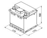 Bilbatteri 12V 42Ah Bosch S4000 ETN 0 092 S40 00 LxBxH:175x175x190mm