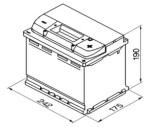 Bilbatteri 12V 60Ah Bosch S4005 DIN: 560408054 LxBxH:242x175x190mm
