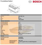 Bilbatteri 12V 95Ah Bosch S4013 DIN: 595402080 LxBxH:353x175x190mm