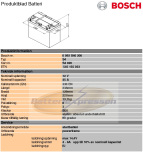 Bilbatteri 12V 45Ah Bosch S4020 DIN: 545155033 LxBxH:238x129x227mm