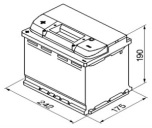 Bilbatteri 12V 63Ah Bosch S5006 DIN: 563401061 LxBxH:242x175x190mm