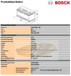 Startbatteri 12V 100Ah Bosch S5013 lxbxh=353x175x190mm 10% rabatt DIN:600402083
