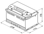 Bilbatteri 12V 65Ah Start-stop Bosch S4E07 LxBxH:278x175x175mm  DIN:565500065