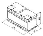 Bilbatteri 12V 75Ah Start-stop Bosch S4E10 LxBxH:315x175x175mm DIN:757500073