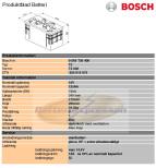 Startbatteri 12V 125Ah Bosch T3040 DIN: 625012072 LxBxH:349x175x290mm