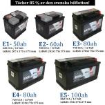 Bilbatteri 12V 60Ah LxBxH:242x175x175mm (Amerikanska)-Extreme Excellent DIN:561400060