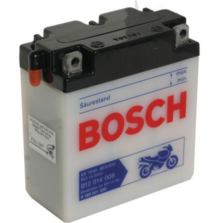 MC-batteri 6V 12 Ah 6N11A-3A Bosch M4012 LxBxH:123x61x137mm