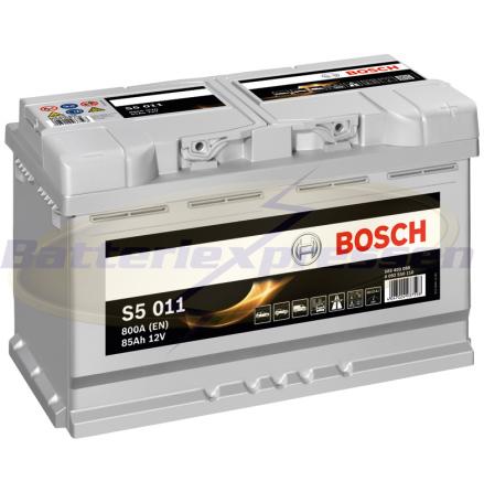 Bilbatteri 12V 80Ah Start-stop Bosch S4E11 LxBxH:315x175x190mm DIN:580500073