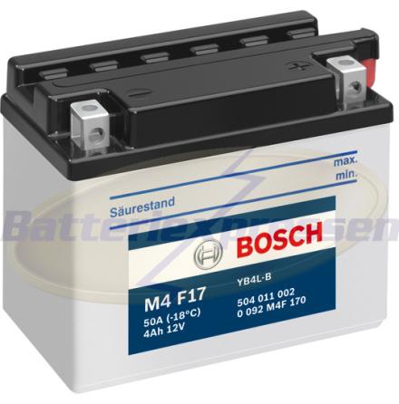 MC-batteri 4Ah YB4L-B Bosch M4017 LxBxH:120x70x92mm